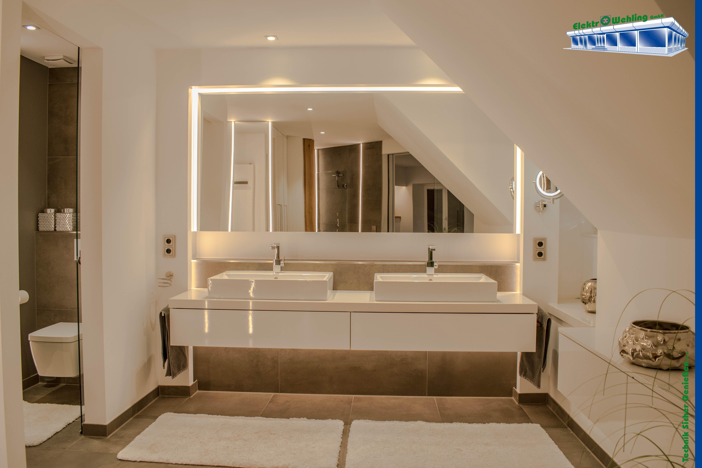 Badezimmer mit LCN Steuerung dimmbar
